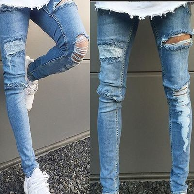 Men´s Stretch Ripped Skinny/Pantalon Skinny