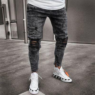 Men Skinny Stretch Denim Jeans/Pantalon Skinny