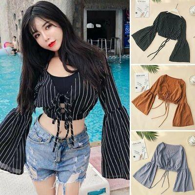 Crop Top Blouse Chiffon/Blusa Ropa Coreana Korean Style