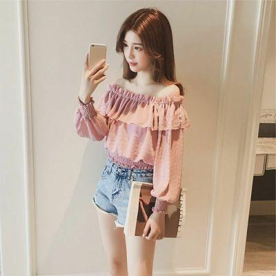 Crop Top Off Shoulder/Blusa Ropa Coreana Korean Style