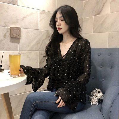 Polka Dots Chiffon Blouse /Blusa Ropa Coreana Korean Style