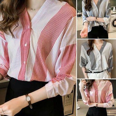 Casual Striped Blouse/ Blusa Ropa Coreana Korean Style