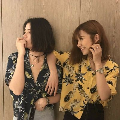 Shirt Pineapple Printed/Blusa Ropa Coreana Korean Style