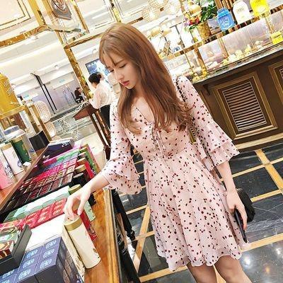 Floral Short Dress/Vestido Ropa Coreana Korean Style