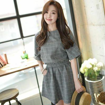 Plaid Short Dress/Vestido Ropa Coreana Korean Style