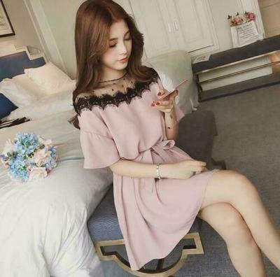 Elegant Women Lace Dress/ Ropa Coreana Korean Style