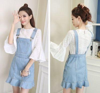 Denim Jean Dress/ Ropa Coreana Korean Style