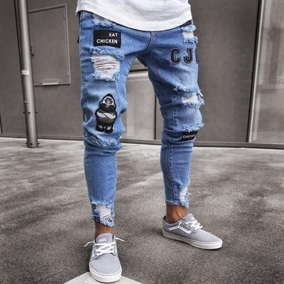 Denim Pant Destroyed/Pantalon Korean Style