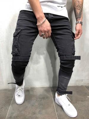 Skinny Biker Stretch Jeans/Pantalon Korean Style