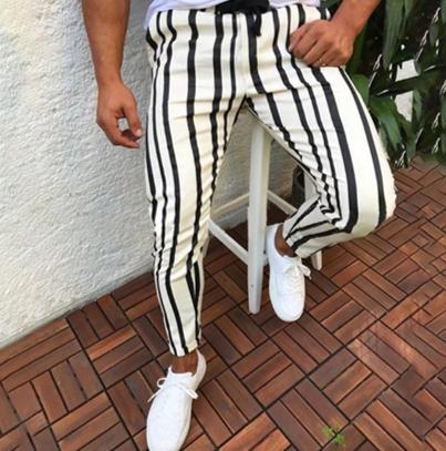Slim Striped Pants/Pantalon Korean Style