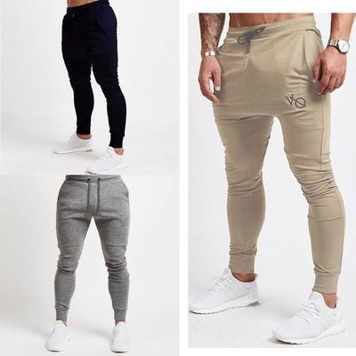 Men Slim Fit Sports Gym Pants/Pantalon Korean Style