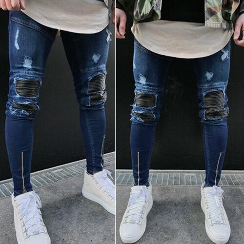 Men Ripped Jeans Skinny/Pantalon Korean Style