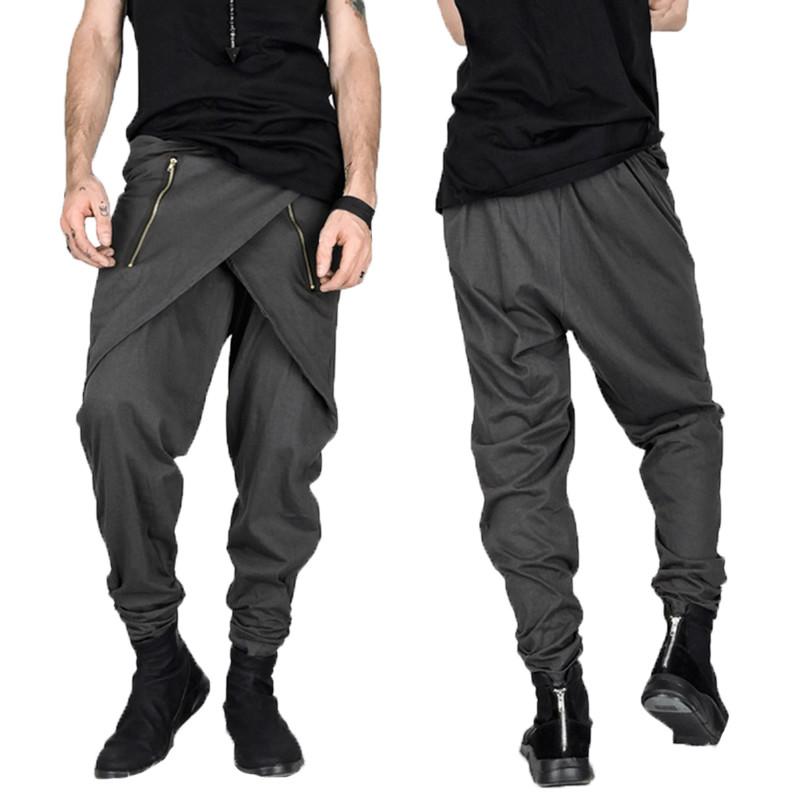 Men Baggy Check Harem Pants/Pantalon Korean Style
