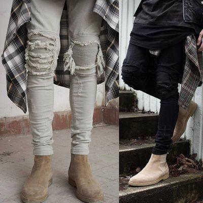 Men Ripped Jeans/Pantalon Korean Style