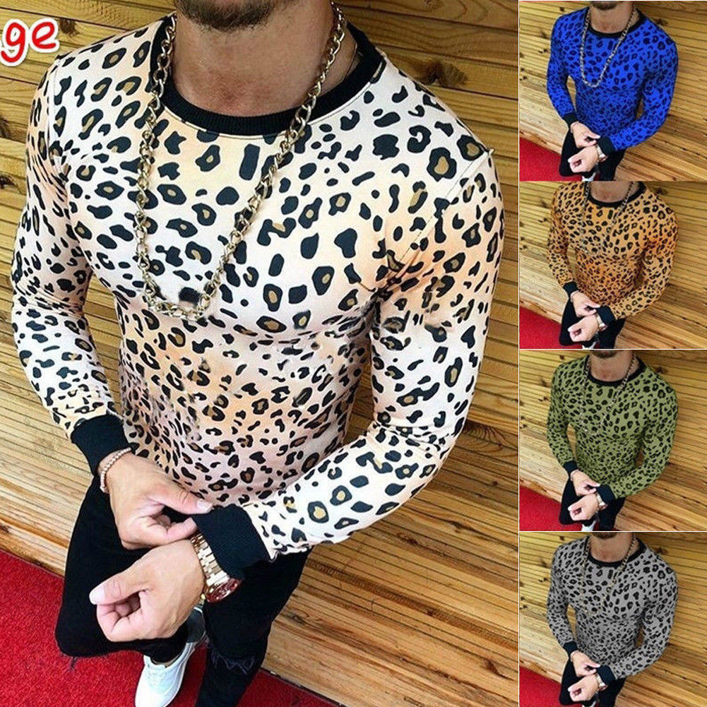 Long Sleeve Leopard T-shirt/Camisa Korean Style