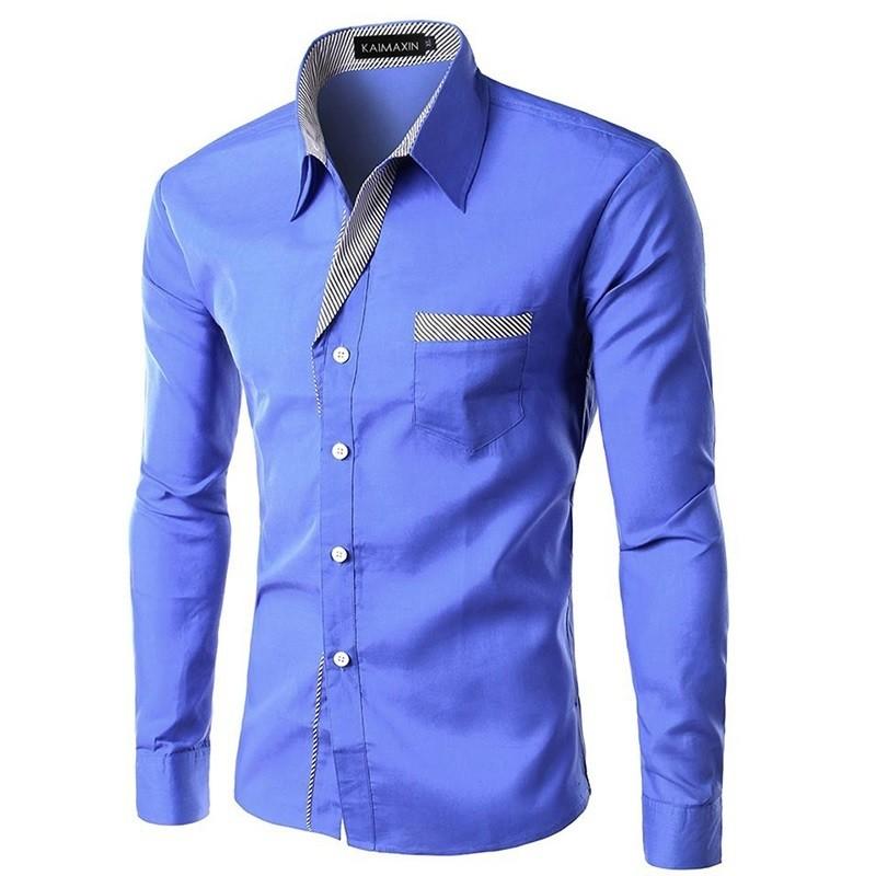 Long Sleeve Men Shirt/Camisa Korean Style