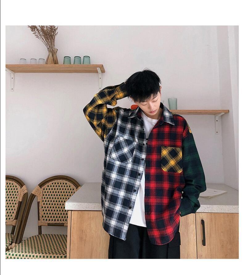 Camisa De Cuadros /Camisa Korean Style