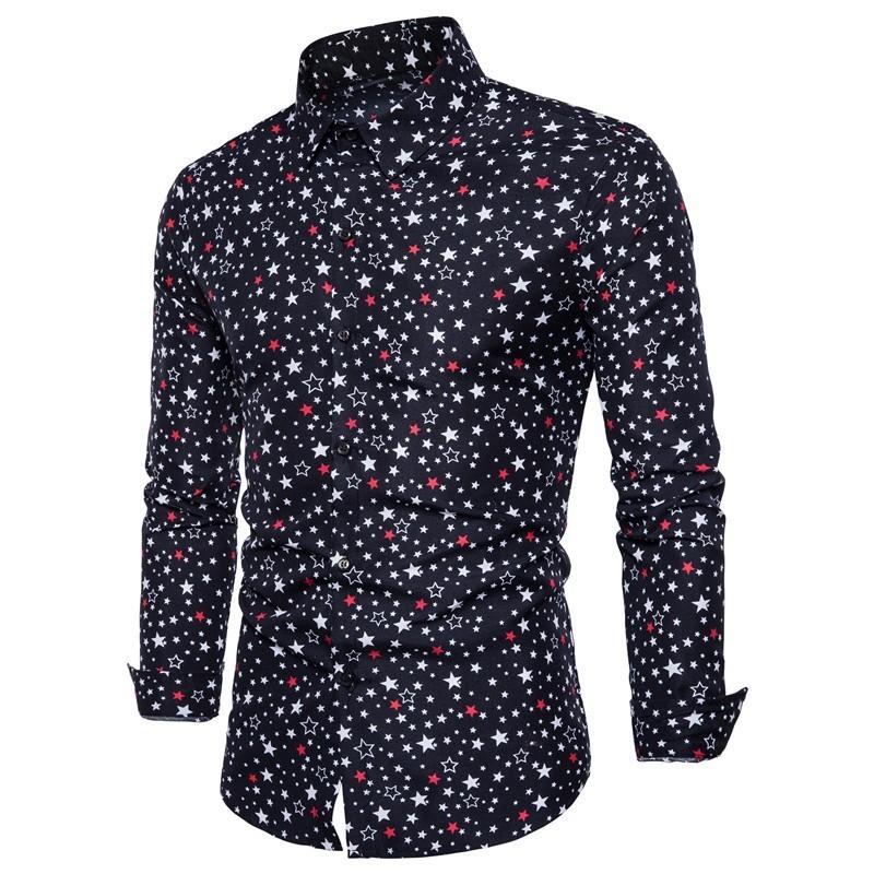 Stars Print Shirt/Camisa Korean Style