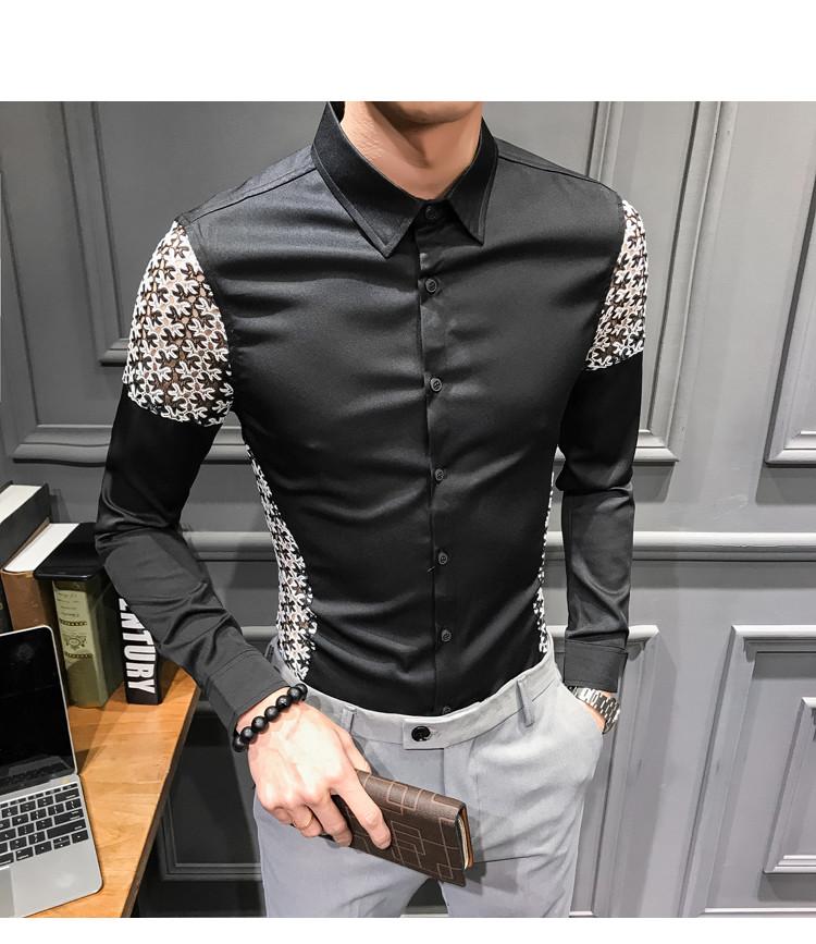 Camisa Con Bordado A Los Costados/Camisa Korean Style