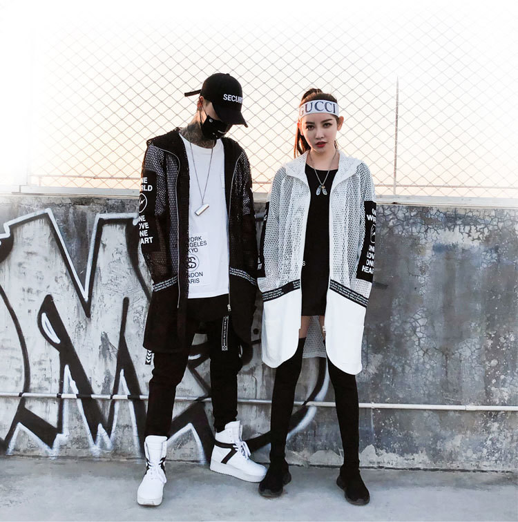 Long Sleeve Hooded Shirt/Camisa Korean Style