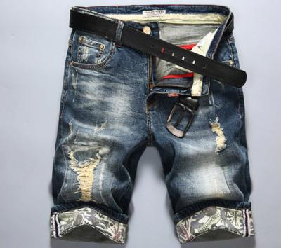 Men Ripped Short Jeans/ Short Korean Style