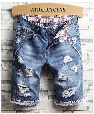 Men Ripped Shorts/ Short Korean Style