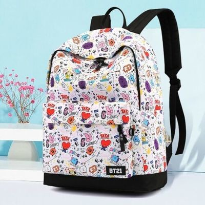 Kpop BTS Cartoon Canvas Backpack/Mochila Korean Style