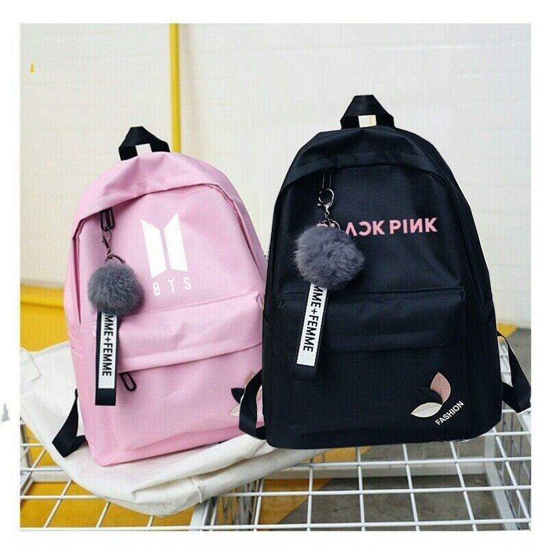 BTS EXO Black Pink Backpack/Mochila Korean Style