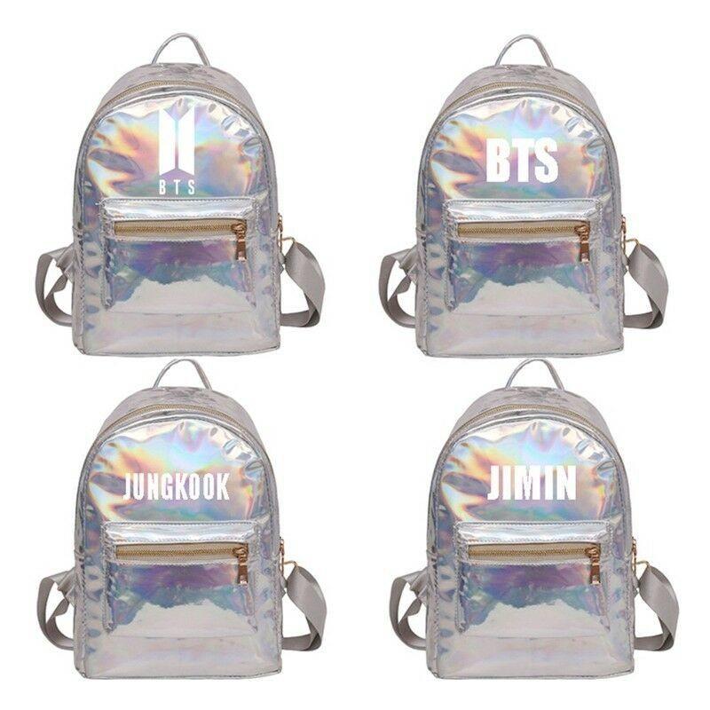 Kpop BTS Laser Backpack/ Mochila Korean Style