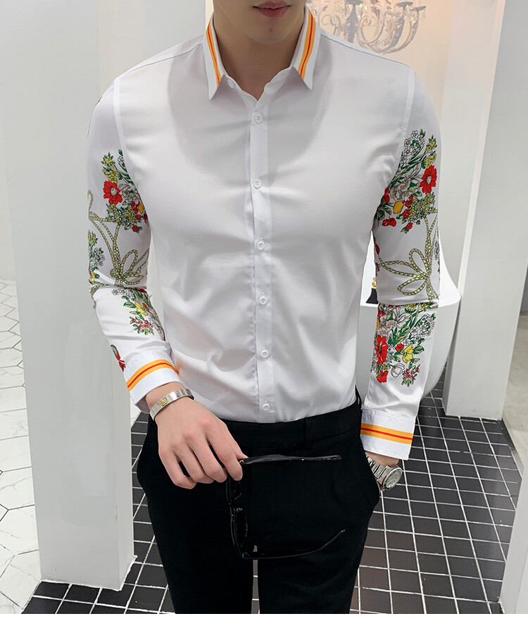 Camisa Mangas Floreadas / Camisa Korean Style