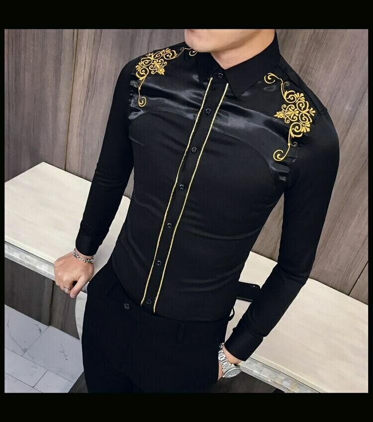 Camisa Bordado /Camisa Korean Style