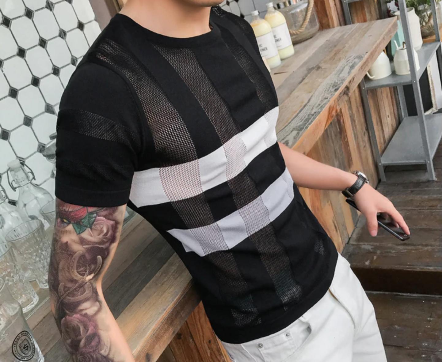 T-shirt Streetwear Slim Fit /Camisa Korean Style