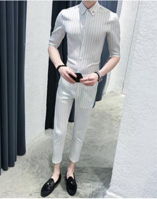 Striped Men Suit /Suit Korean Style