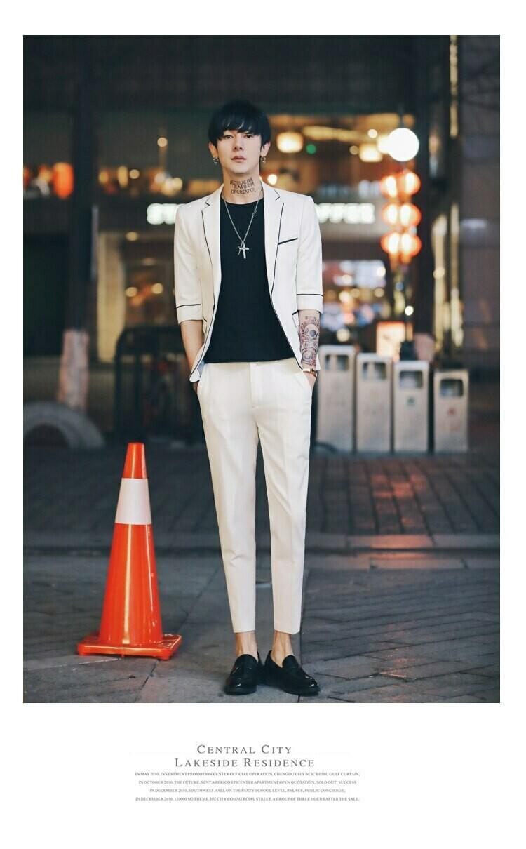 Mens Suits Slim Fit 2 Pieces Set /Suit Korean Style