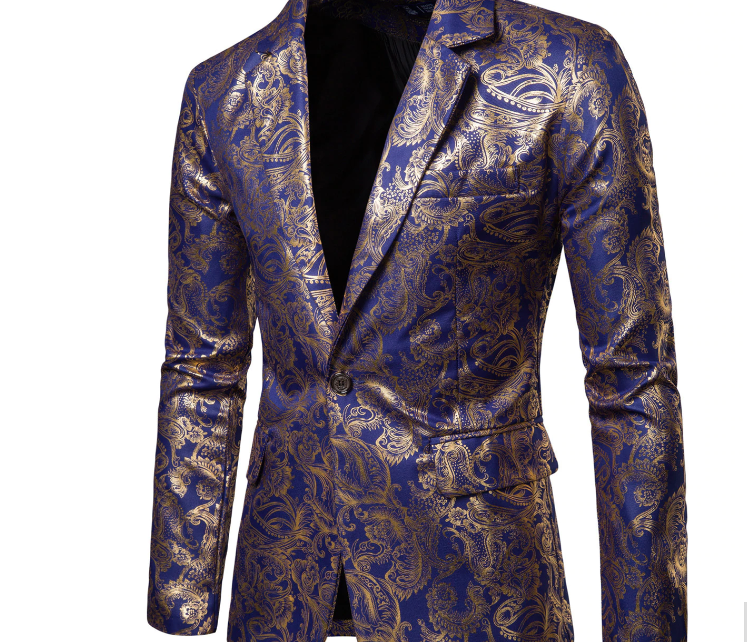 New Fashion Men Blazers Gold Glitter / Blazer Korean Style