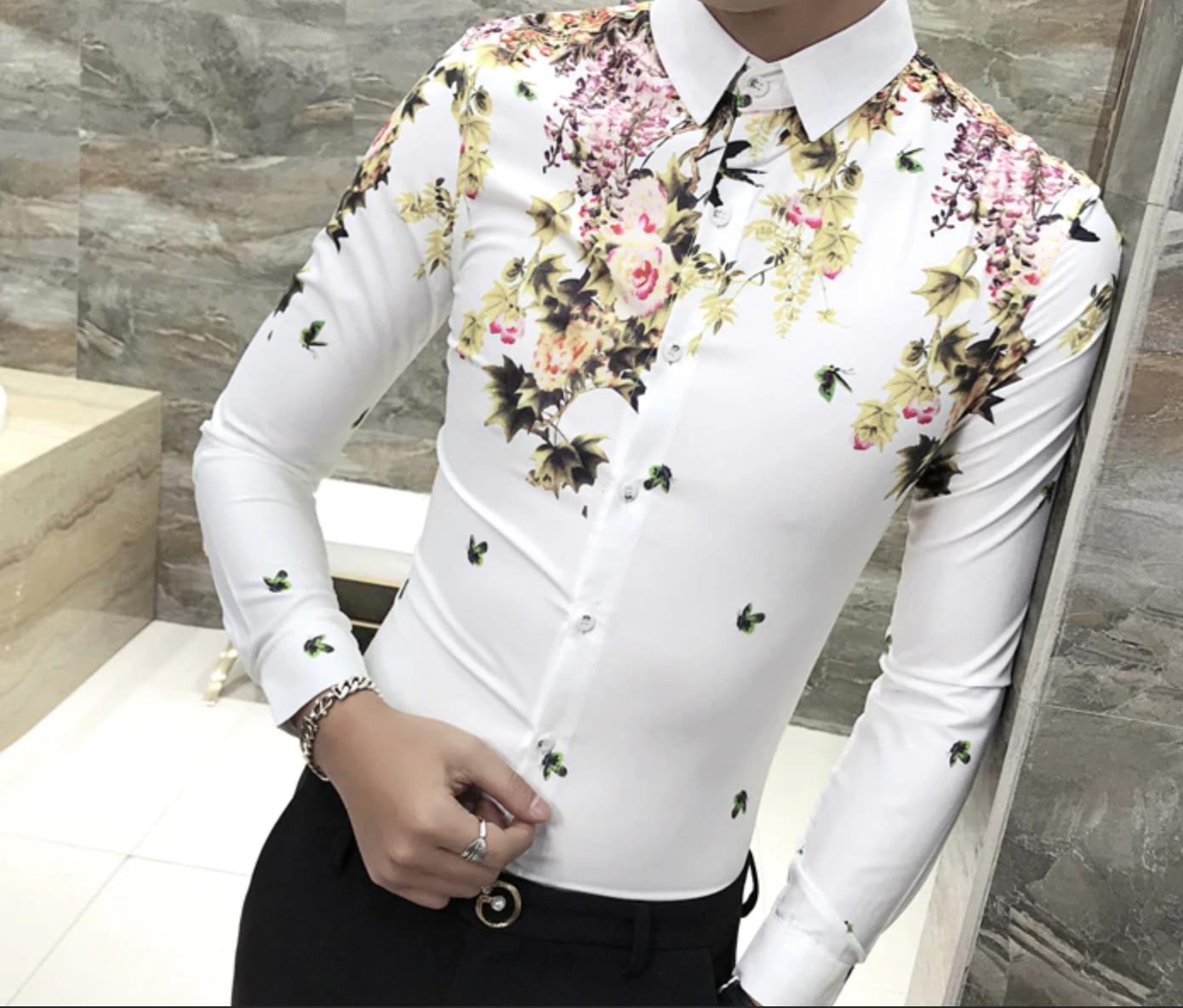 Camisa Estampado De Flores / Camisas Korean Style