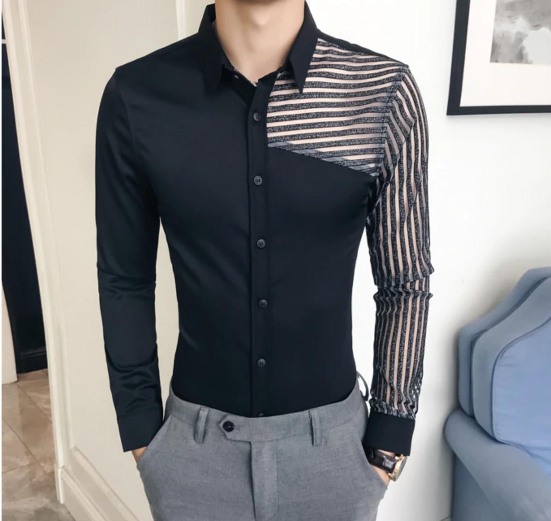 Men Shirt Long Sleeve / Camisas Korean Style