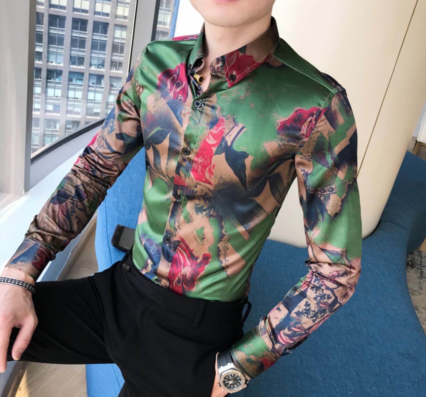 Long Sleeve Print Shirt / Camisas Korean Style