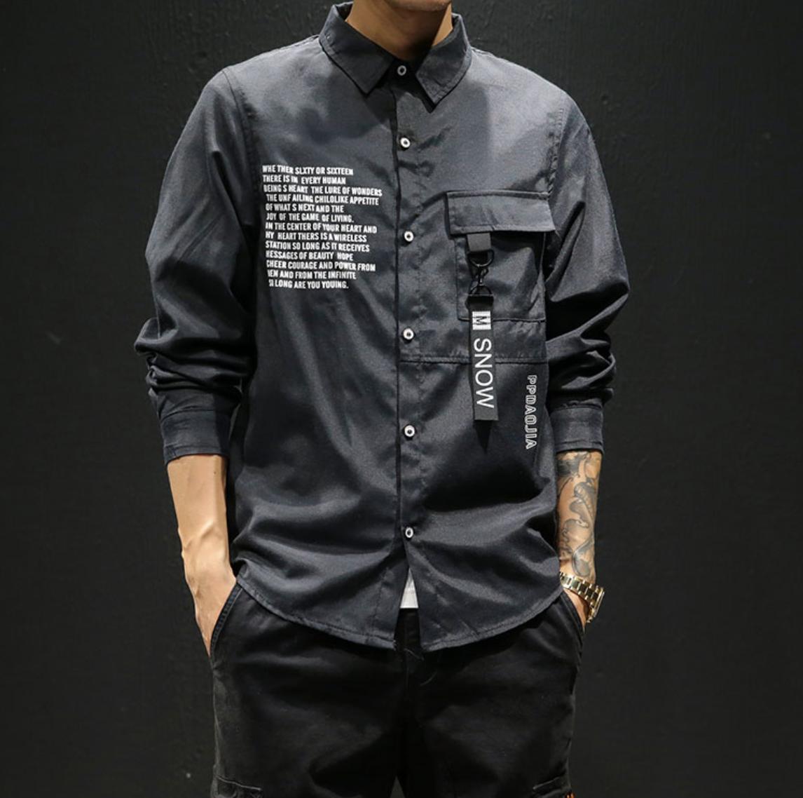 Streetwear Long Sleeve Shirt / Camisas Korean Style