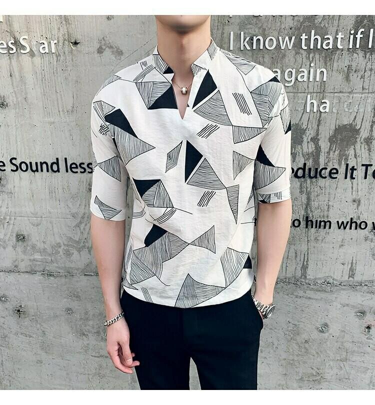 Camisa Estampado De Triangulos / Camisas Korean Style