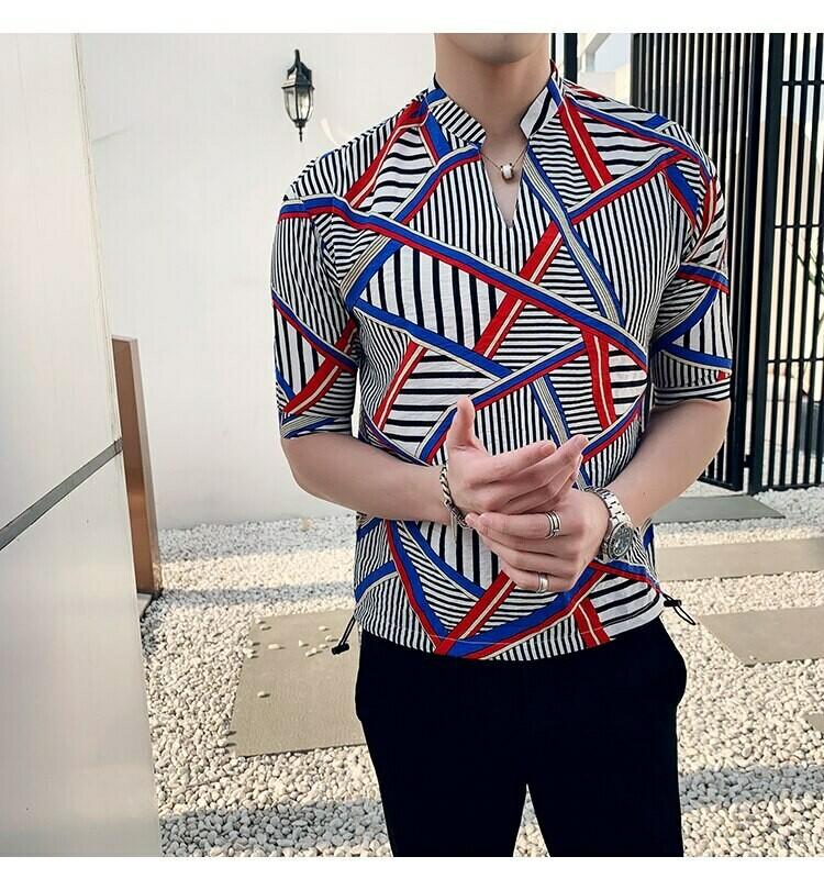 Estampado De Rayas Irregulares / Camisas Korean Style