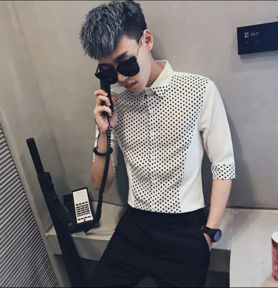 Polk Dot Men Shirt / Camisas Korean Style