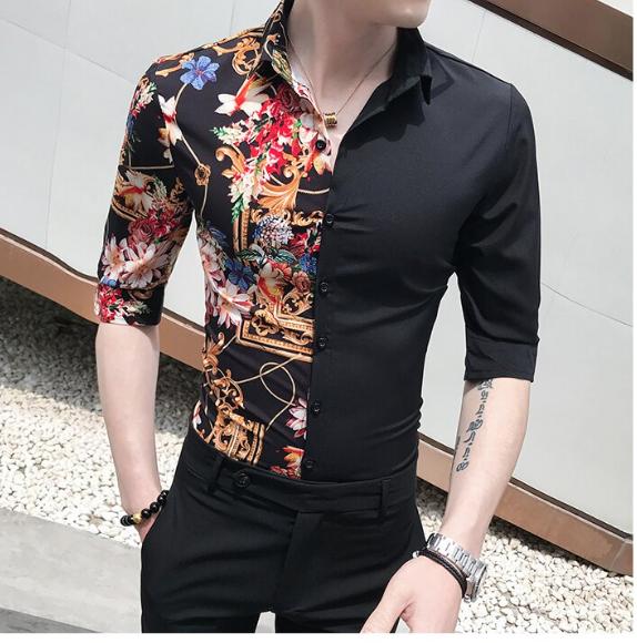 Half Printed Shirt / Camisas Korean Style