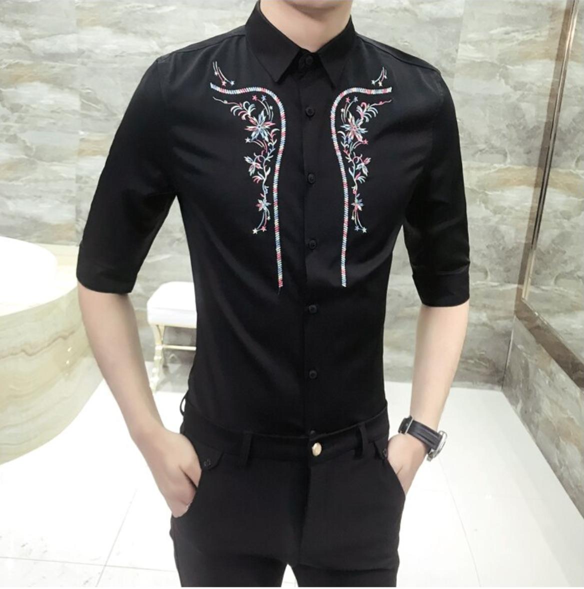Camisa Con Bordado / Camisas Korean Style