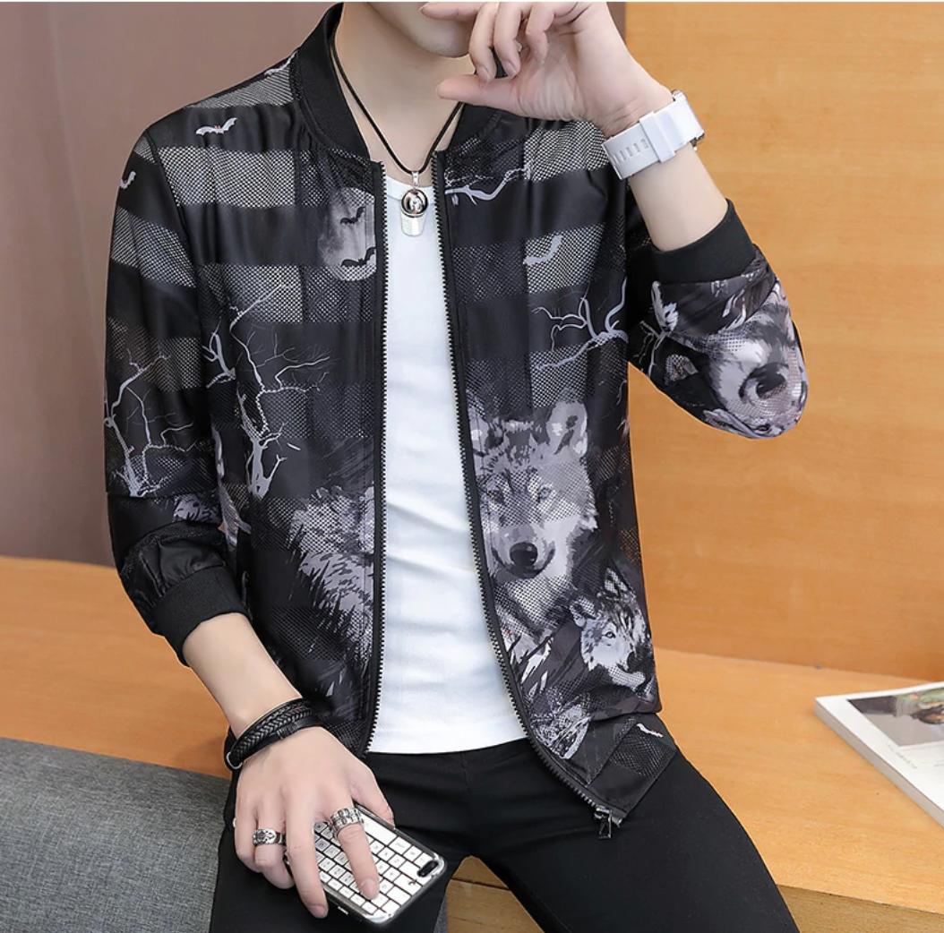 Korean Slim Fit Bomber Jacket / Camisas Korean Style