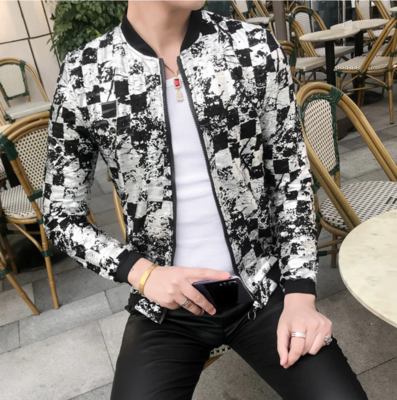 Bomber Jacket Slim Fit Windbreaker / Camisas Korean Style