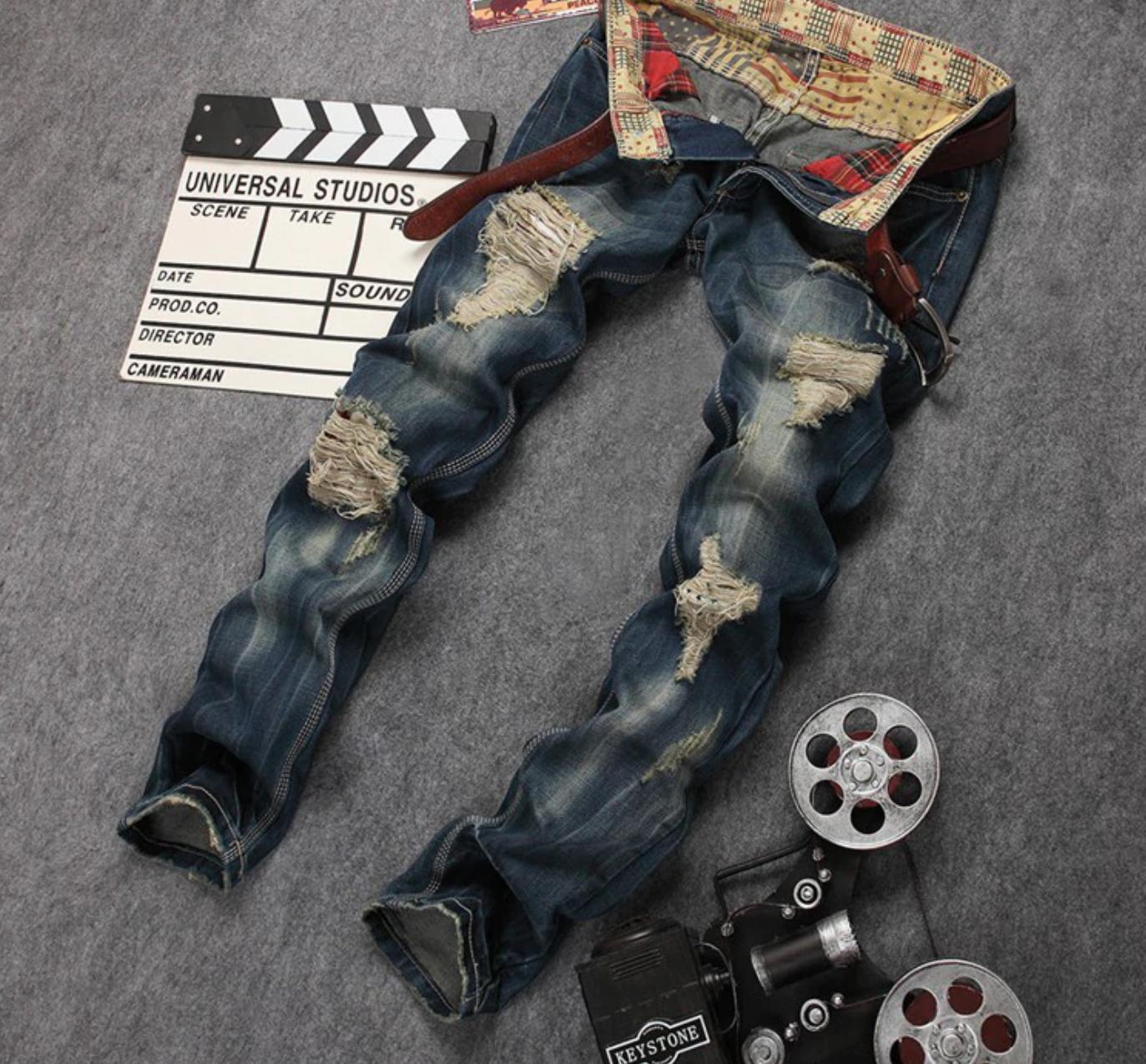 Casual Jeans de Homme Retro /Pantalon Korean Style