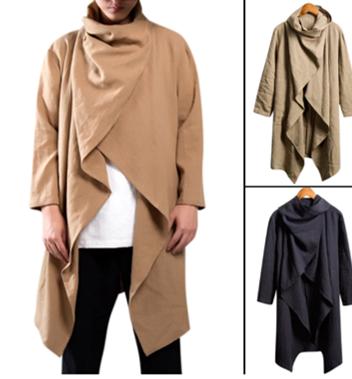 Vintage Men Trench Coat Cotton    /Camisa Verano  Korean Style