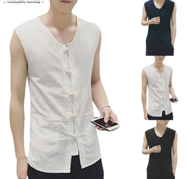 Muslim Clothes Men Shirt    /Camisa Verano  Korean Style