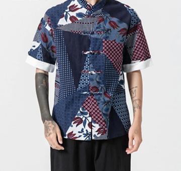 Fashion Men Long Shirt Solid   /Camisa Verano  Korean Style
